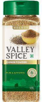 Valley Spice Cumin Powder or Jeera Powder 100g Bottle