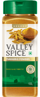 Valley Spice Turmeric Powder 100g Bottle