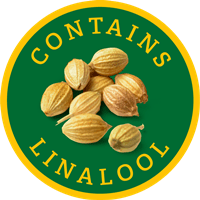 Contains linalool logo