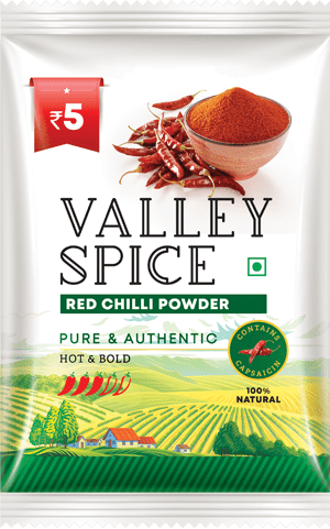 Valley Spice Red Chilli Hot and Bold 10g Sachet