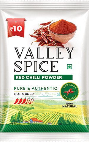 Valley Spice Red Chilli Hot and Bold 30g Sachet