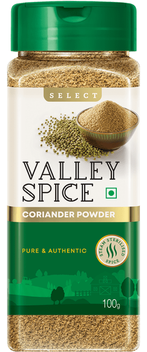 Valley Spice Coriander Powder 100g Bottle