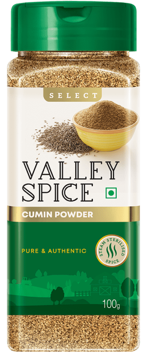 Valley Spice Jeera Powder 100g Bottle