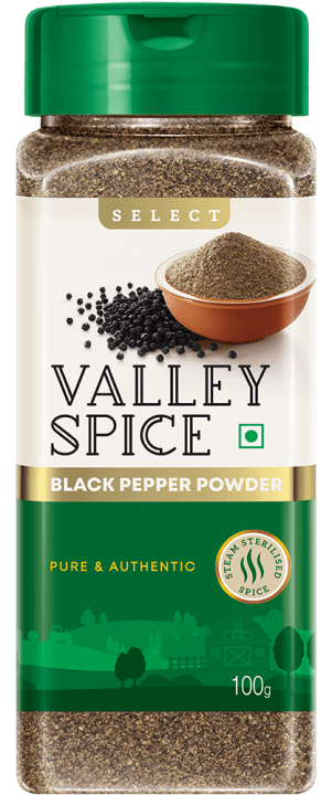 Valley Spice Black Pepper Powder 100g Bottle